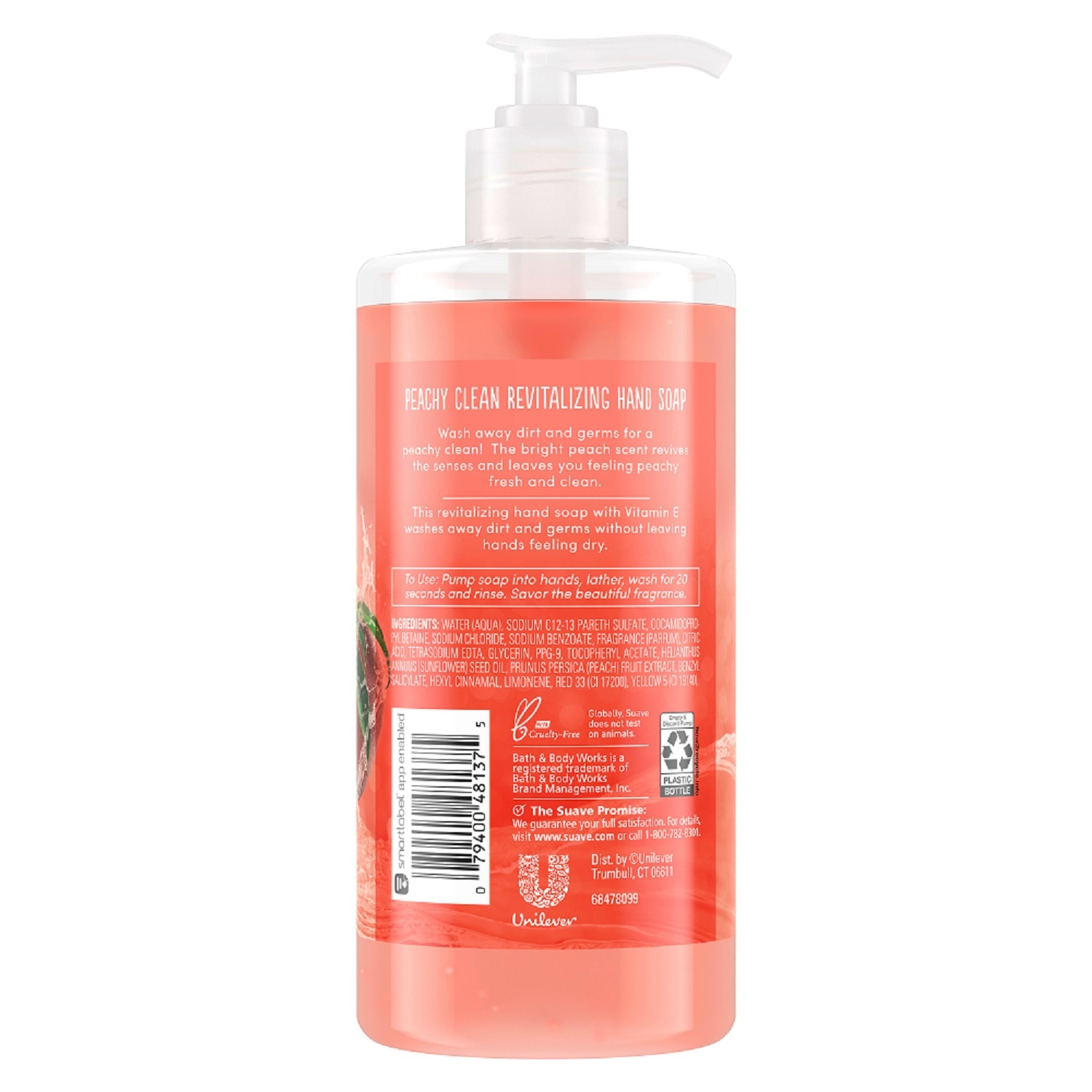 SUAVEPeachy Clean Hand Wash 400ML 2x Buy 1 Take 1,Hand Soap/Sanitizers-