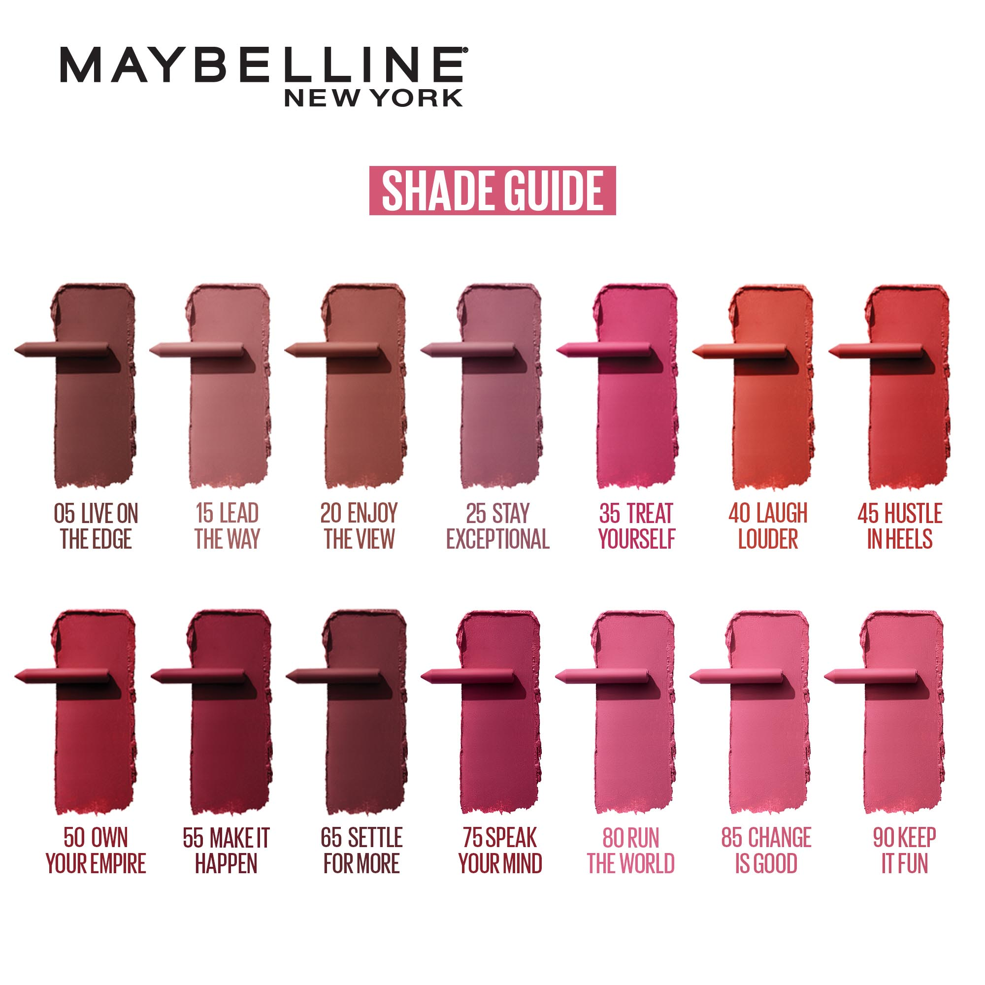 MAYBELLINESuperStay Matte Crayon - 15 Lead the Way 1.2g,Lipstick , Lip Tint and LiplinersBUY 2 FOR P299