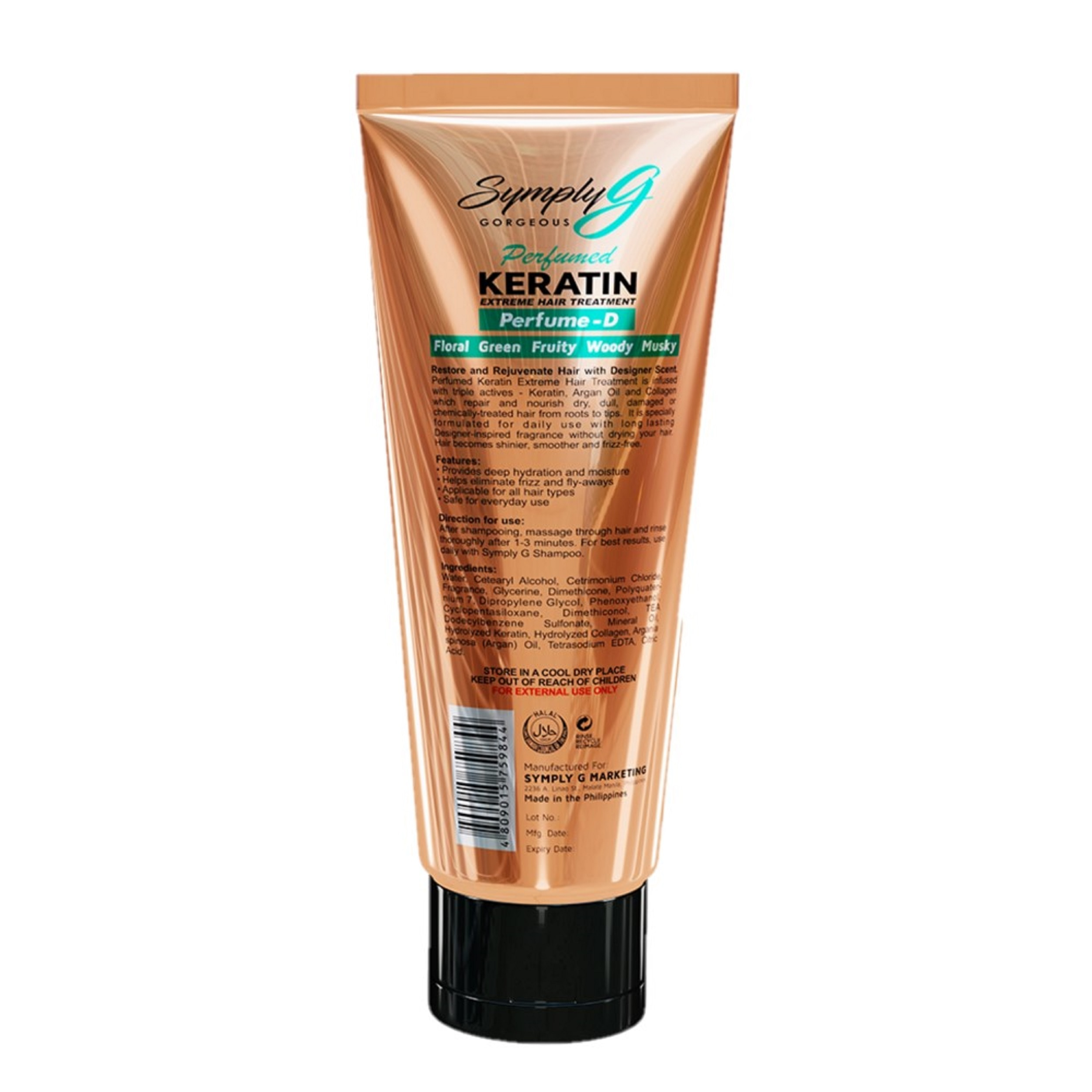 SYMPLY GSymply G Perfume D Keratin Extreme Hair Treatment With Argan Oil & Collagen,Treatment Condtioner-