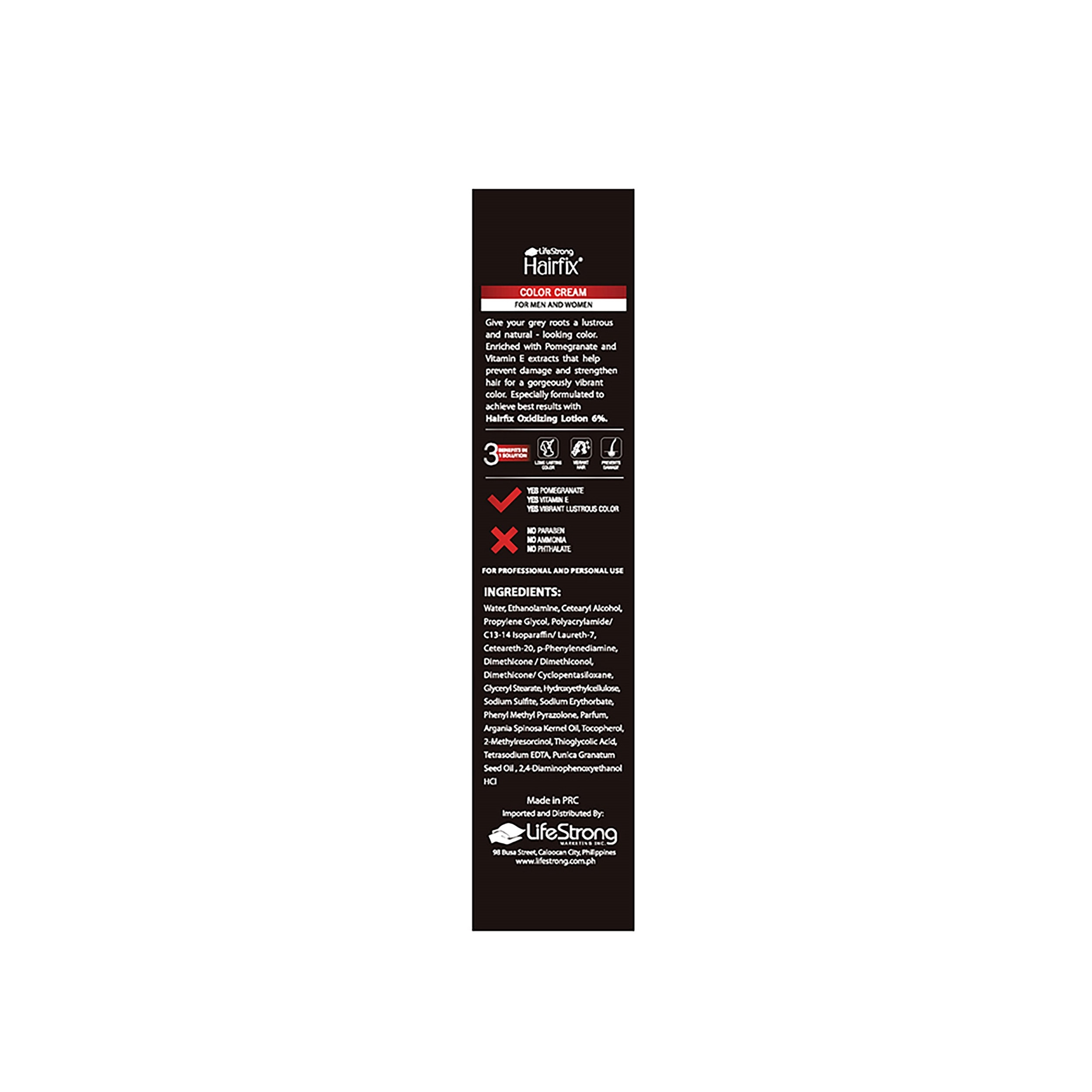 HAIRFIXColor Radiance Hair Coloring cream Deep Brown 1.2 60ML,-Permanent