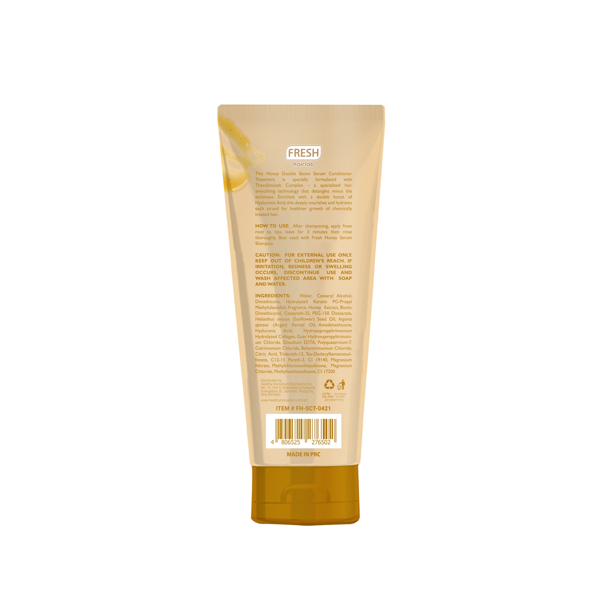 FRESHHairlab Honey Double Boost Hyaluronic Acid 2 in 1 Serum Conditioner Treatment 200ml,Treatment Condtioner-