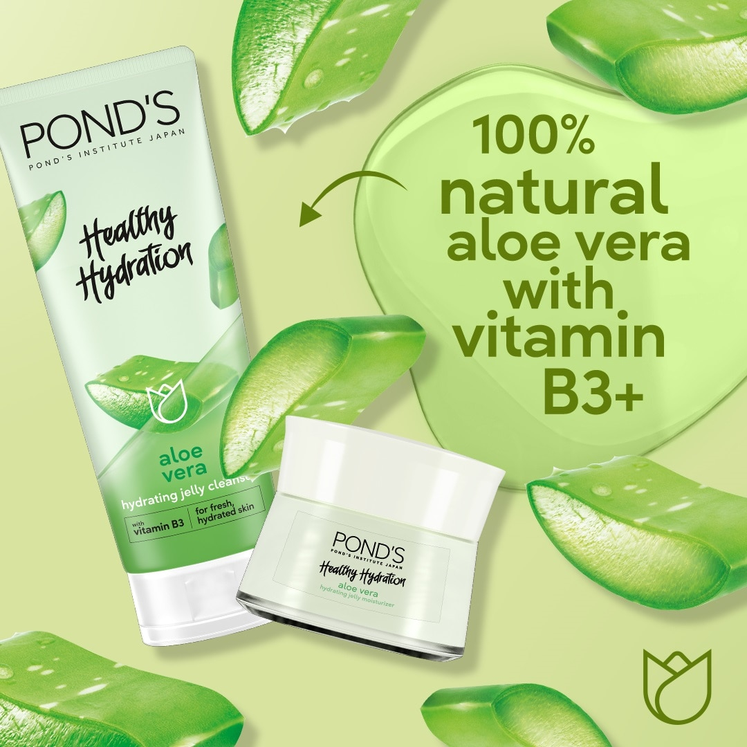 PONDSPond's Aloe Vera Jelly Cleanser with Vitamin B3 for Hydrated Skin 100g,For WomenWCFREEDELIVER