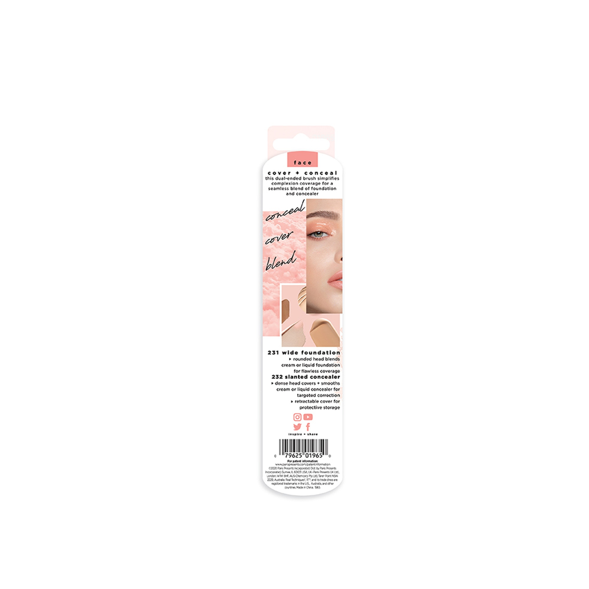 REAL TECHNIQUESDual Ended Brush Cover and Conceal,Brush-